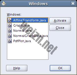 Windows dialog in JDeveloper