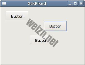 GtkFixed container