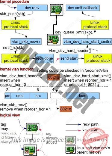 图 2 .VLAN 设备工作过程